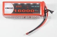 DJI Walkera Align Heli 16000mAh 6S 22.2V 20C Lipo Pack AS150+XT150 connectors, OEM Service