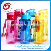2015 busket style water bottle,rubber grip insulated plastic water bottle,plastic bottle jar