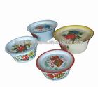 Hot selling Enamel finger bowl, steel finger bowl, enamel bowl with cover