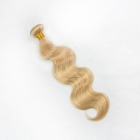 2015 Most Popular 20inch 3pcs #27 strawberry /honey blond virgin brazilian body wave human hair sew in weave