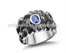 Rhodium plated mens titanium wedding rings
