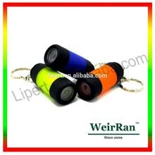 (160124) Cheap plastic customized usb rechargeable mini logo led flashlight