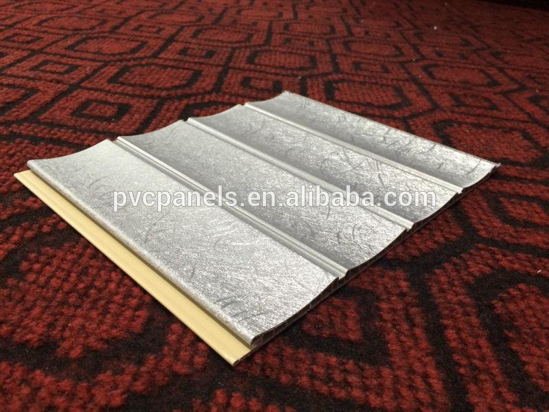 Decorative wood design laminate tiles wall panel plastic