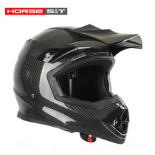 Certificado ECE capacete de fibra de carbono com luz de auto - peso