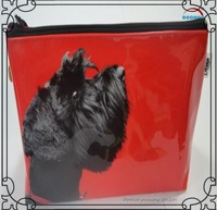 cosmetic packaging black dog plastic soft bags