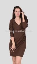 The merino long sleeve and deep V skirt of women