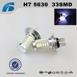 Car Canbus Bright LED Fog Light Bulbs h7 33 5630 SMD with lens White 9v~12v