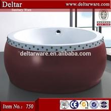 2 person outdoor spa bathtub, teak wood bathtub, top design inflatable portable spa tub