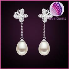 Fashion classic butterfly pearl earrings
