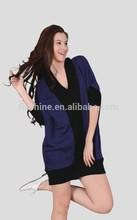 The Merino wool deep V and loose coat of women