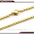 chapado en oro de la cadena de aceroinoxidable y collar de perlas