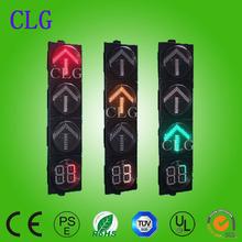Best price 300mm red&green&yellow driveway arrow +countdown timer led traffic light AC85-264V/DC12V
