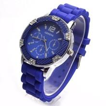 2015 High quality hot sale colorful diamond case geneva watch sets