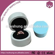 Custom round wood engagement ring boxes