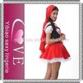 2015 di alta qualità adulto costume di halloween cappuccetto rosso costume