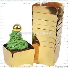 Foil Gold Square Shape Muffin Cups 20pcs pack