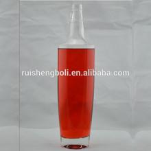 Hot sell 750ml clear glass bottles for oil/ wine/ liquor