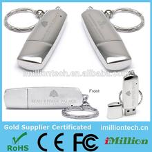 polished mirror metal remove usb stick /oem metal usb 2.0 flash drive