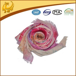 OEM custom SGS certificate multi-usage cashmere shawl for winter