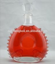 New design xo cognac , hennessy , wine ,vodka ,apple cider glass bottles