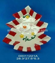 2015 Holiday tree shaped ceramic plate
