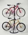 Atractivo piso- de pie 2- niveles estante de la bici en el hogar