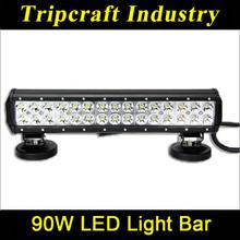 90W bar led light ATVs, SUV, UTV, truck,bus,12V/24V Waterproof IP67 bar led light