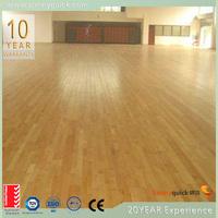 indoor basketball court maple wood flooring