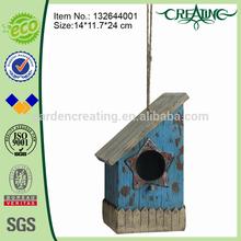 9.5 inch Cheapest Wooden Finish Birdhouse for Garden