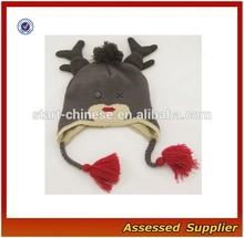 XJ01040/Fashion winter hat baby boy knitted hat /cheap knit boy's earflap hat