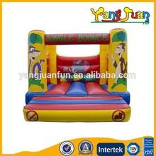 EN14960 jungle inflatable moonwalks bouncy castle for European countries