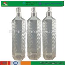 Wholesale high quality fresh square glass liquor bottle