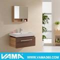 vama moderna madeira maciça armário com prateleiras e porta espelho