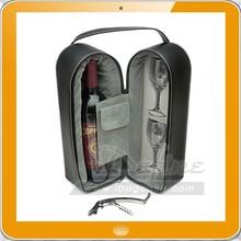 Luxury 4-Piece Set pu leather wine carrier