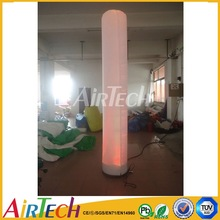China Commercial led decoration lighting column, inflatable decoration cone, inflatable lighting with led