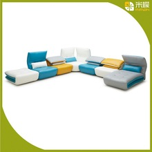 2015 Kuka contemporary leather corner sofa for lounge suite