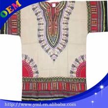custom wholesale mens african print dashiki t shirts