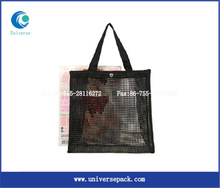 custom nylon foldable shopping bag nylon mesh bag with simple fashion style