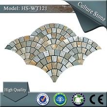 foshan 2015 black flagstone slate for floor decoration