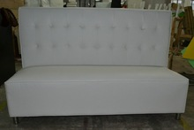 white restaurant sofa set with fabric buttons XY0370A