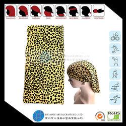 Black Colored Dots Printed Tubular Bandana/headwear/neckerchief