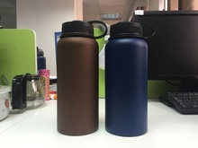Hot Sale double wall Amber colour thermal stainless steel water bottle for travel