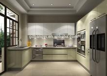 2015 new fashion nice modern popular style white yellow paint open kitchen cabinet kitchen furniture