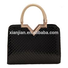 V-Mark Patent Woven already set bag Handbags (BLL1046)