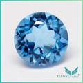 Atacado pedras semi-preciosas redondas Topaz Gem pedra azul topázio