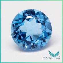 Wholesale Semi Precious Stones Round Topaz Gem Blue Topaz Stone