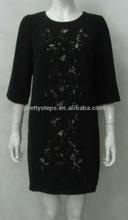 خطوات 2015 جميلة السوداء صبغة صبغ الملابس الملصق/ قوانغتشو الملابس المصنعة