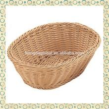 Natural Color Hand Made Plastic Basket
