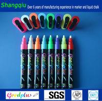 Textile Marker Pen Colorful Neon Wet Wipe Liquid Chalk for School Office
