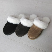 100% Australian women sheepskin slipper with top quality